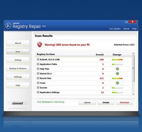 simnet registry repair 2011 1 click pc repair optimize intel certified ...